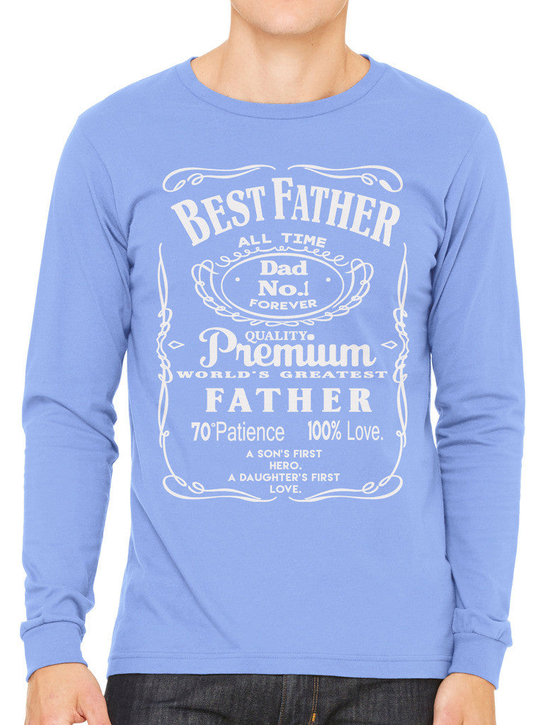Best Father Premium Dad World's Greatest No.1 Men's Long Sleeve T-shirt