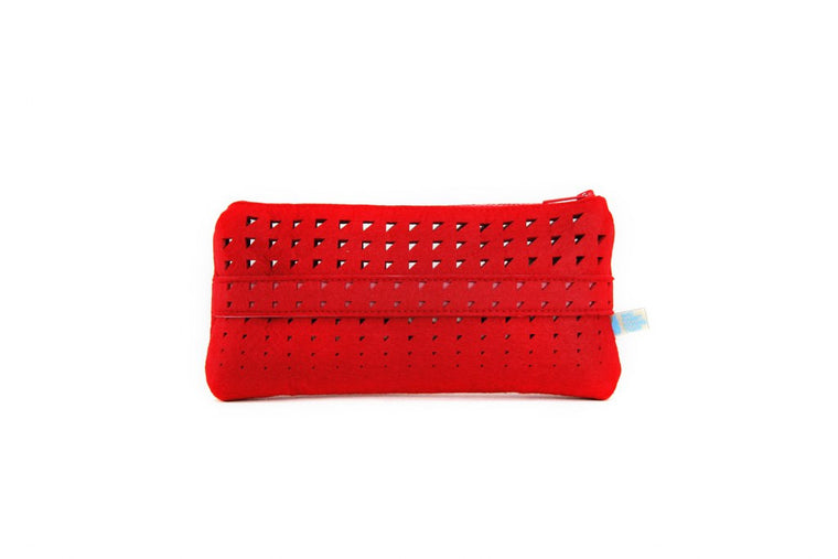 LUCY SMRT FELT/VEGN LEATHER Clutch