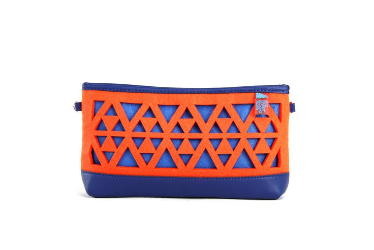 DARCIE SMRT FELT/VEGN LEATHER Clutch