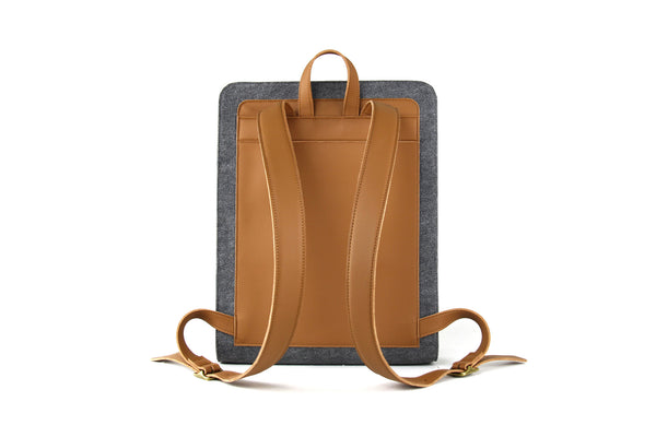 EVAN SUPR FELT/MCRO LEATHER Backpack