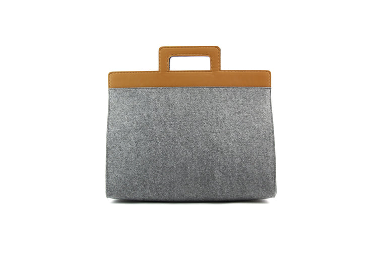 HENRY SMRT FELT/VEGN LEATHER Briefcase