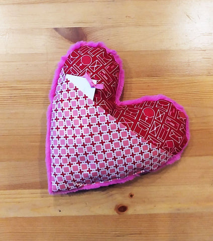 Feb: Fuzzy Heart Pillow Valentine's Day Workshop