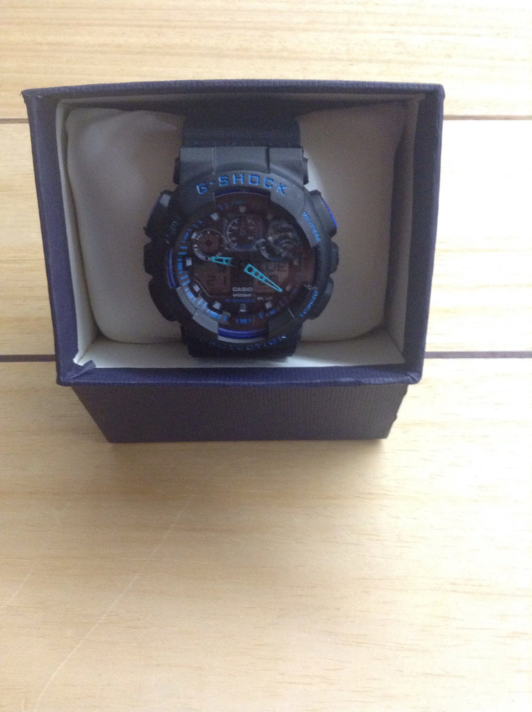 G-Shock Watch Black and Blue