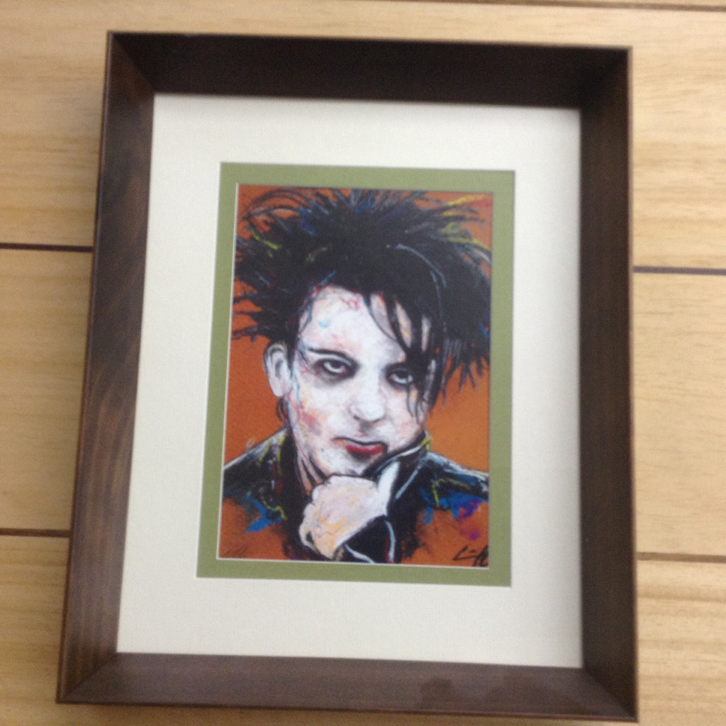 Robert Smith Portrait Framed Hand Signed Print Chuck Hodi