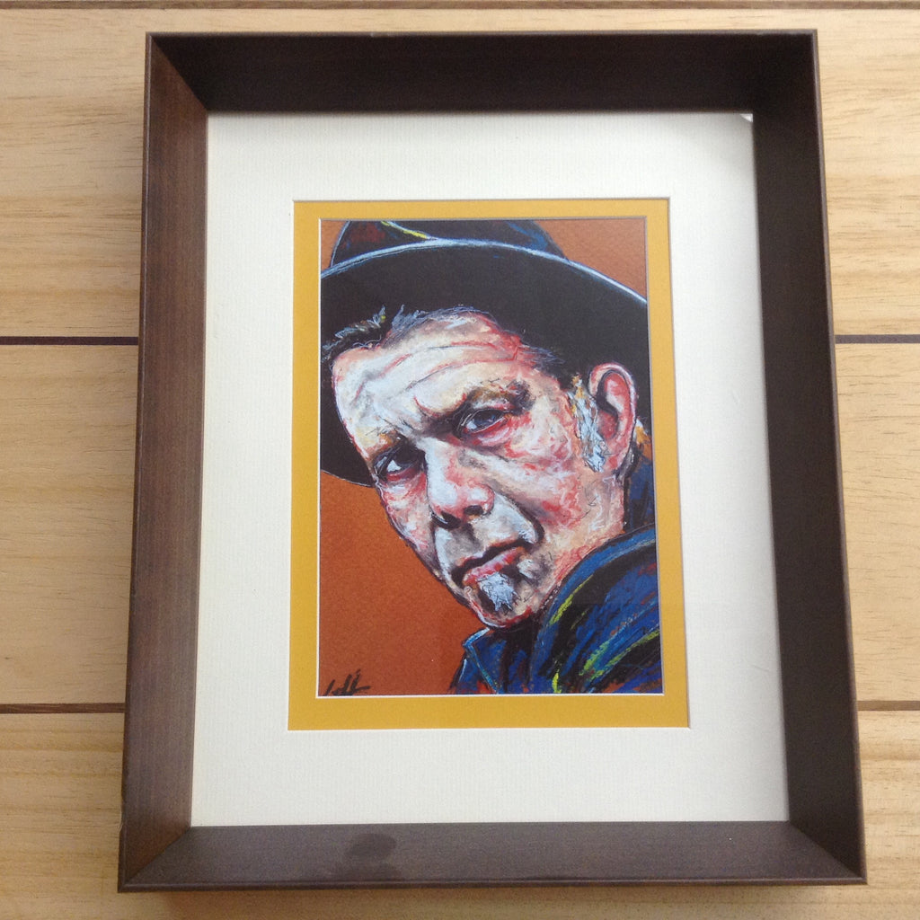 Tom Waits Portrait Framed Hand Signed Chuck Hodi