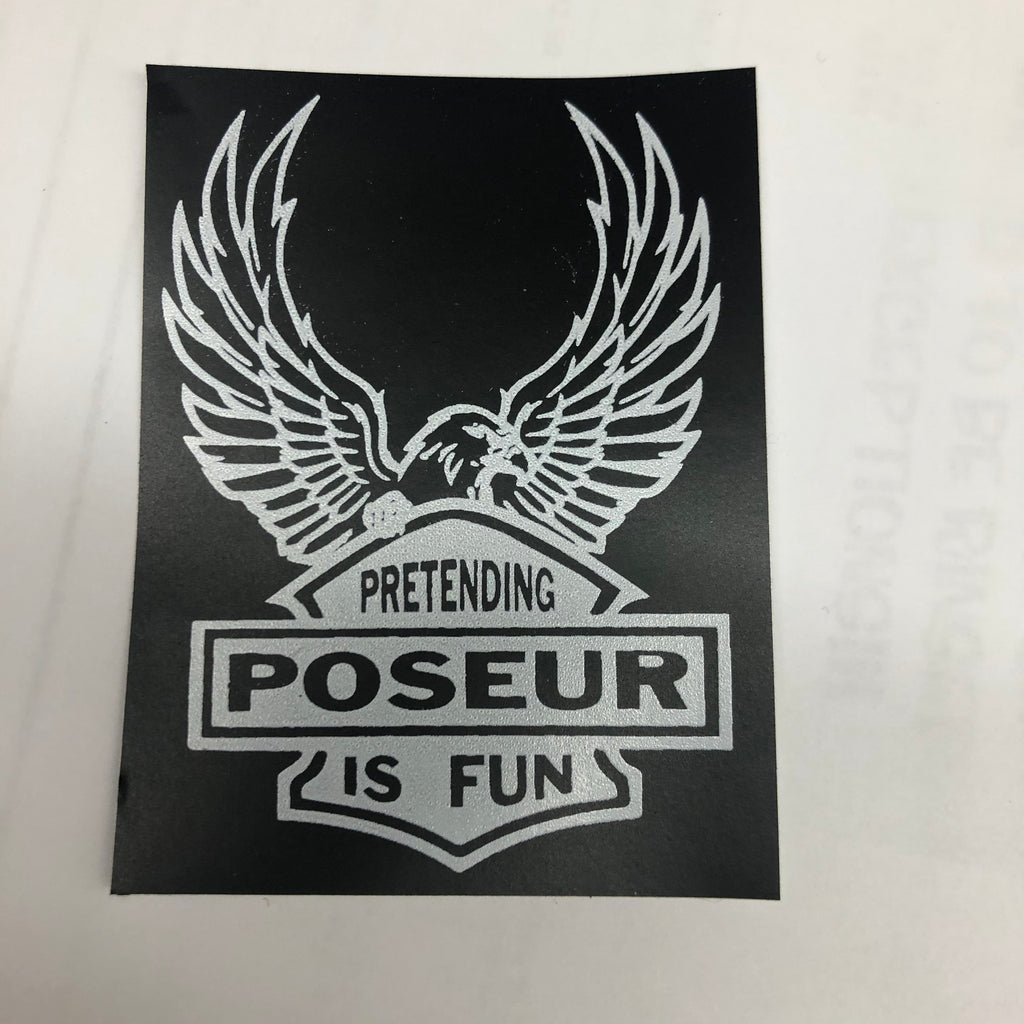 Poseur eagle sticker