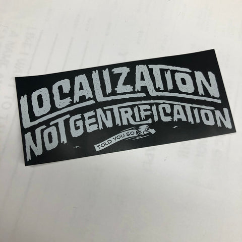 Localization sticker