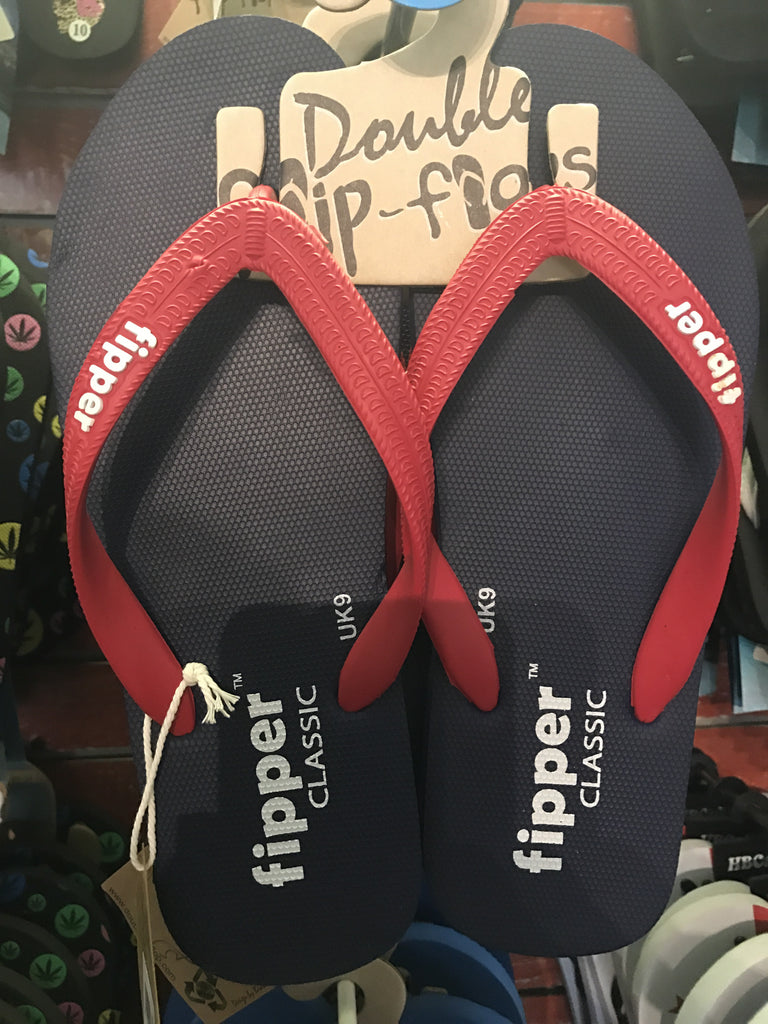 Flipper Basic Comfort Slap Sandal Red and Blue
