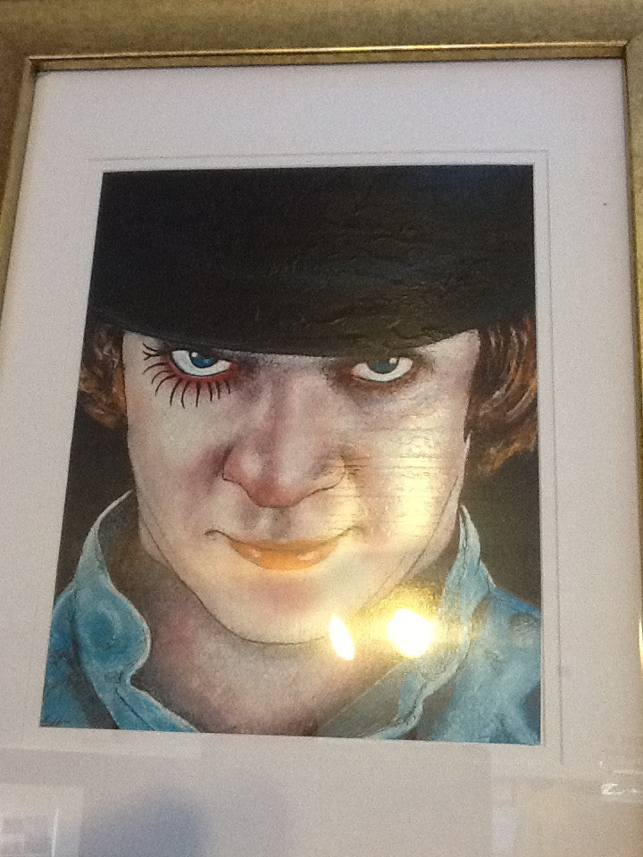 Clockwork Orange art portrait signed print Chuck Hodi