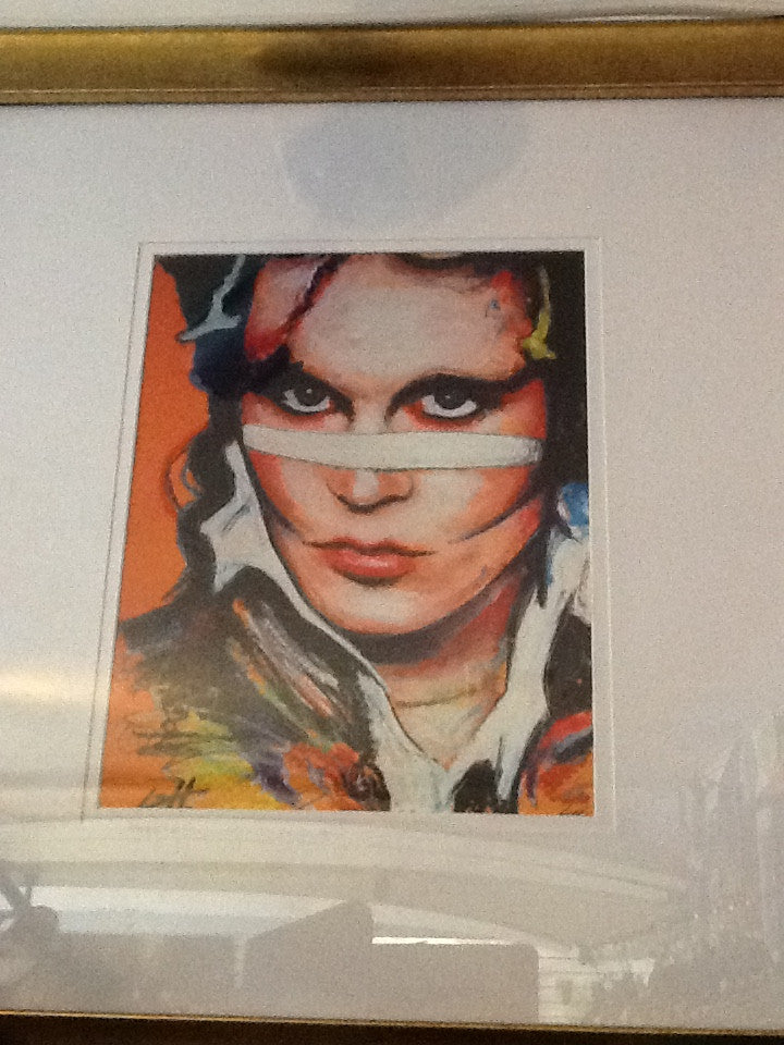 Adam Ant Signed Chuck Hodi art portrait