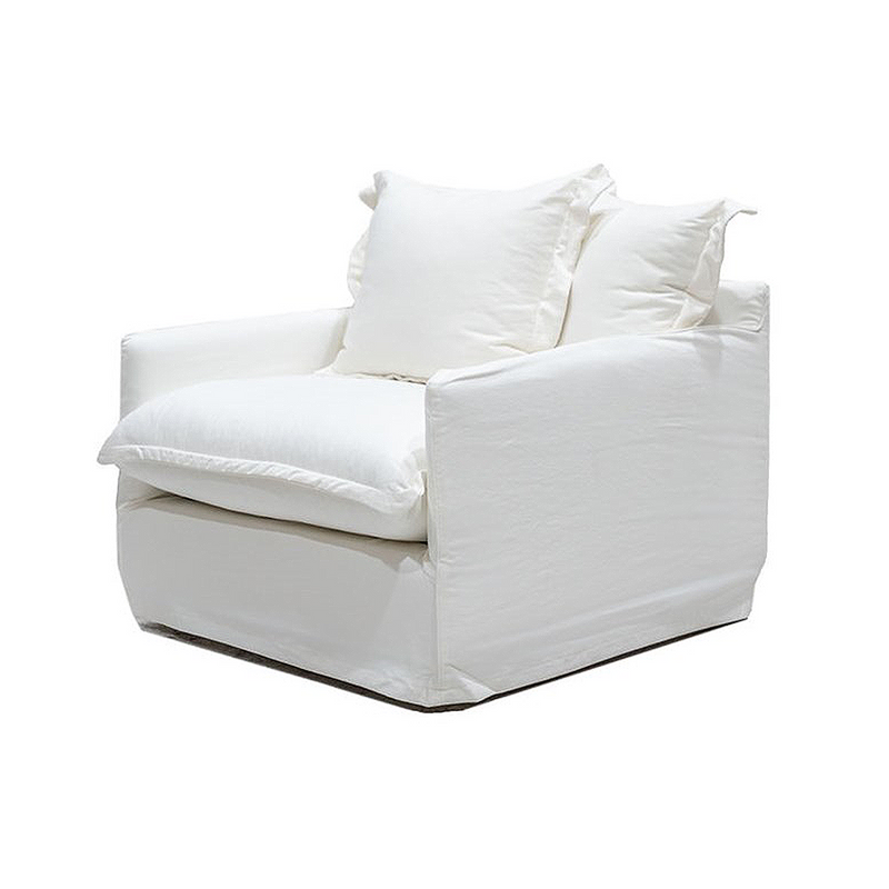 SOUK COLLECTIVE | Lotus Slipcover Armchair White