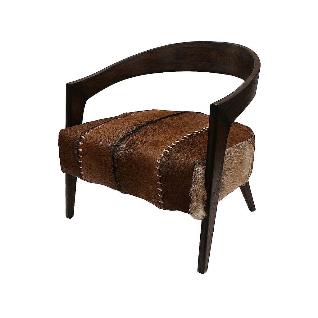 SOUK COLLECTIVE | Gustavo Armchair Brown Goat Hide