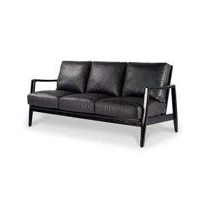 SOUK COLLECTIVE | Reid Sofa Black - 3 Seat