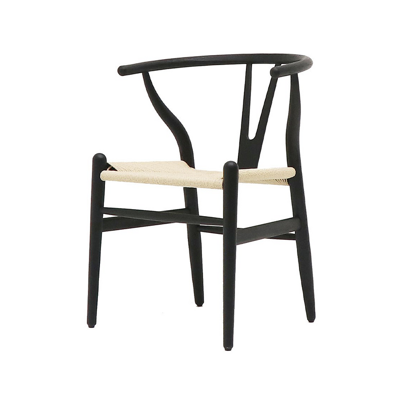 SOUK COLLECTIVE | Wishbone Dining Chair Natural/Black