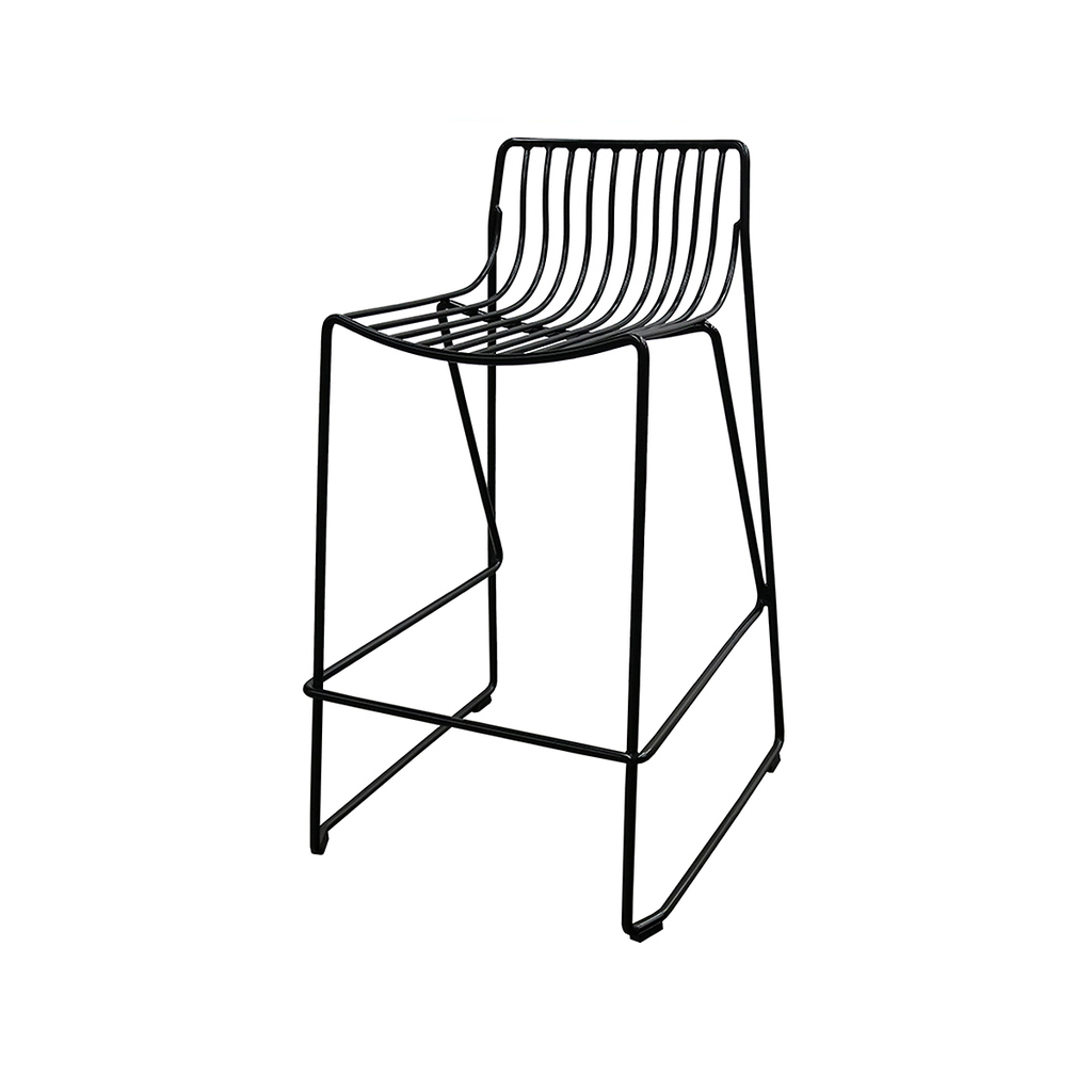 SOUK COLLECTIVE - Wire Stool Black