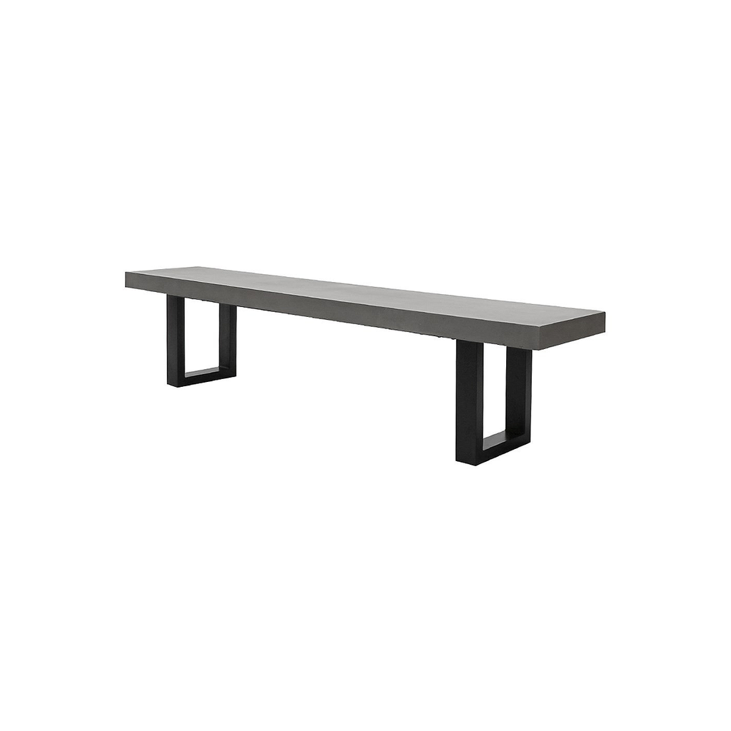SOUK COLLECTIVE - Nero Concrete Bench 210cm