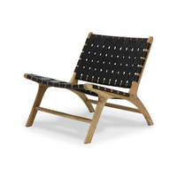 SOUK COLLECTIVE | Hayes Woven Leather Chair Black