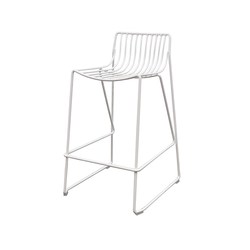 SOUK COLLECTIVE - Wire Stool White