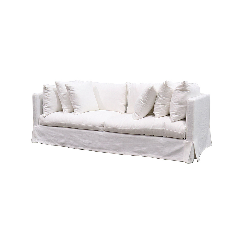 SOUK COLLECTIVE - Long Island Linen Sofa White