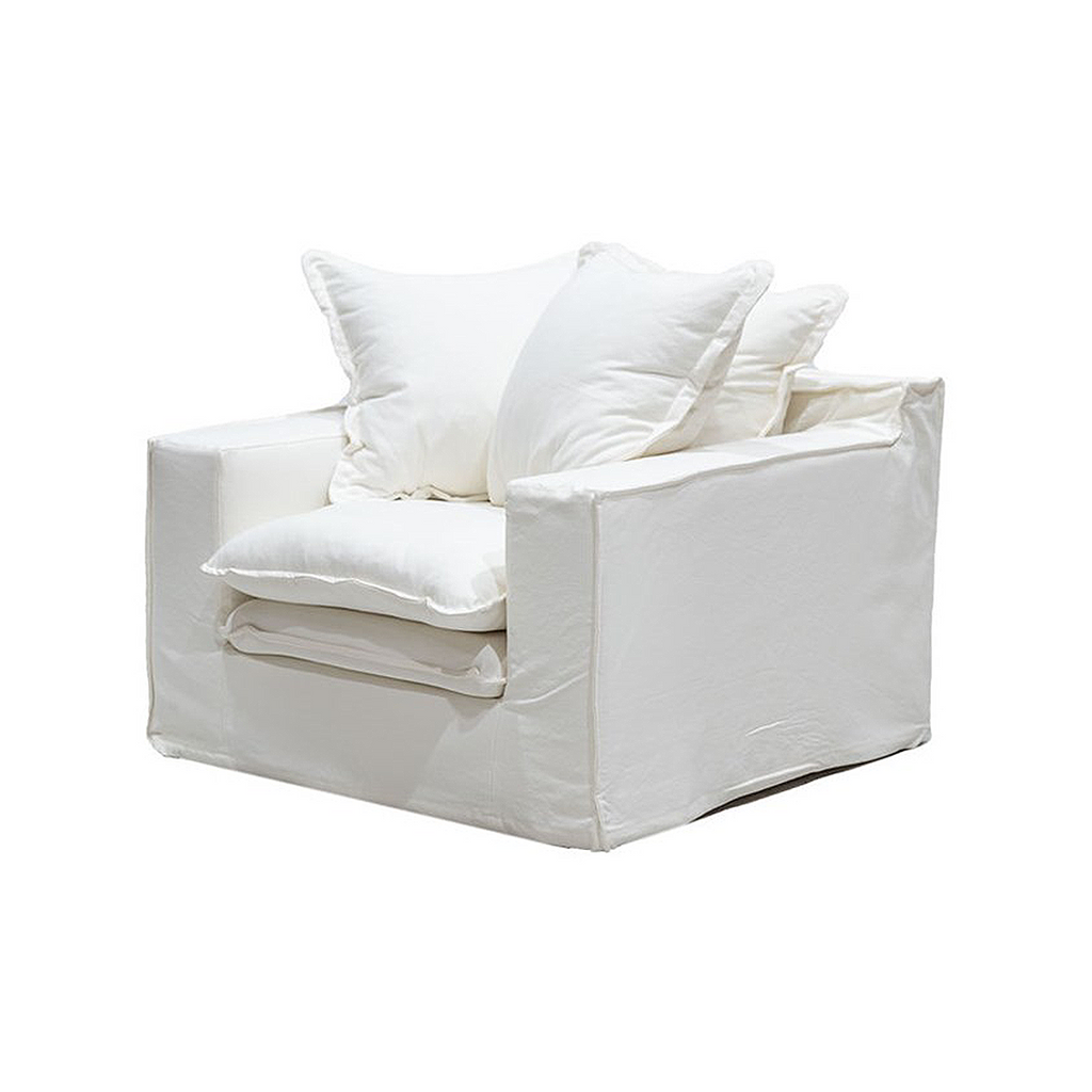 SOUK COLLECTIVE | Keely Slipcover Armchair White
