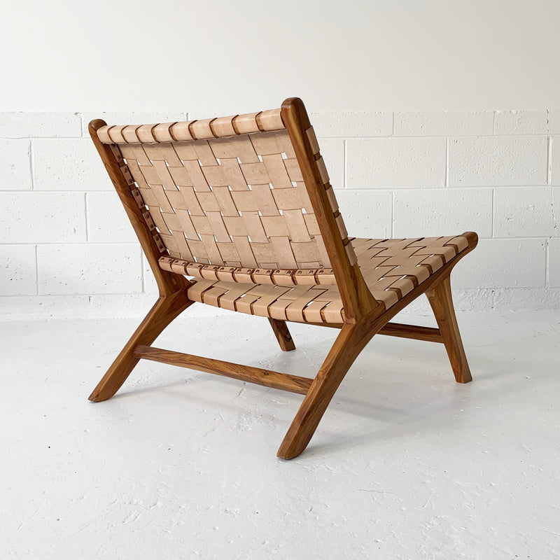 SOUK COLLECTIVE | Anya Leather Strap Chair Natural