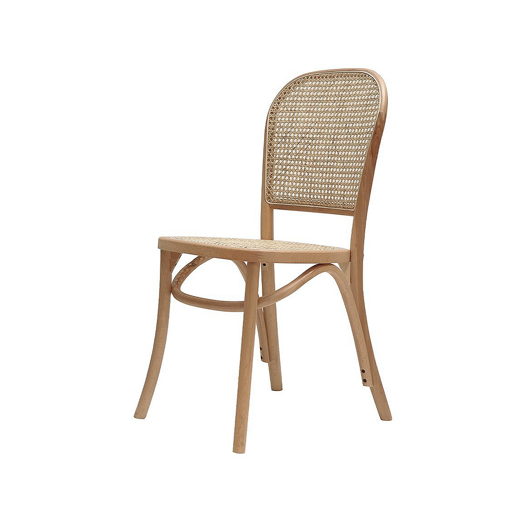 SOUK COLLECTIVE - Bentwood Rattan Dining Chair Natural