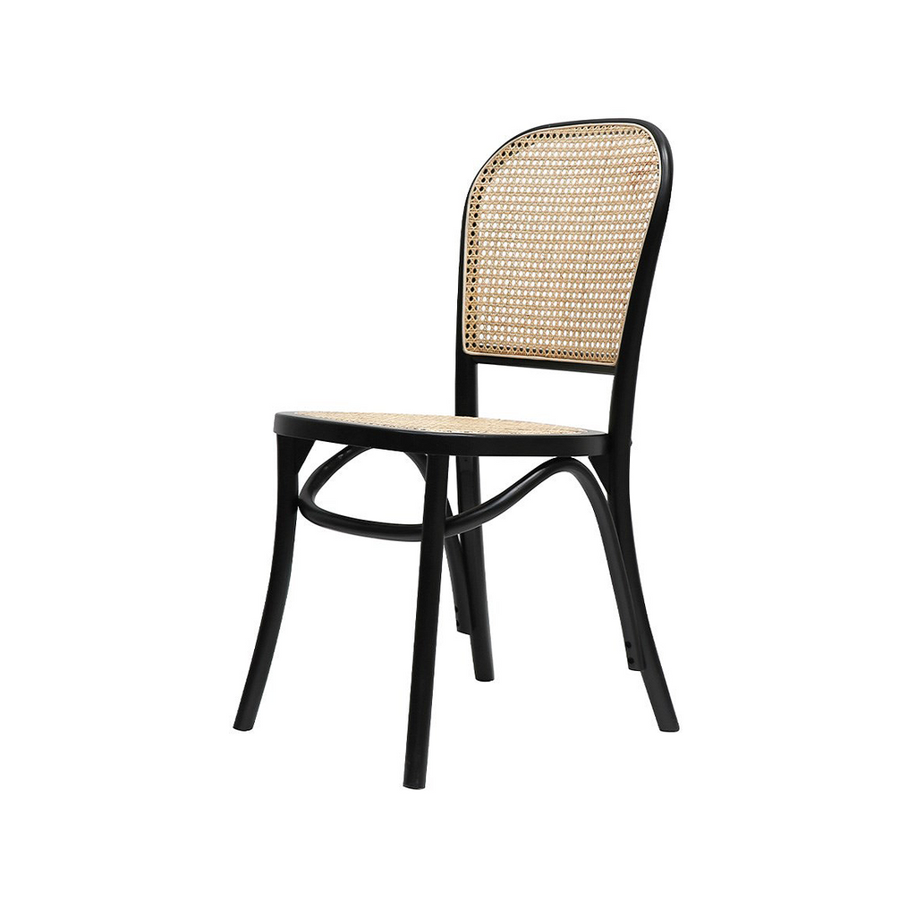 SOUK COLLECTIVE - Bentwood Rattan Dining Chair Black
