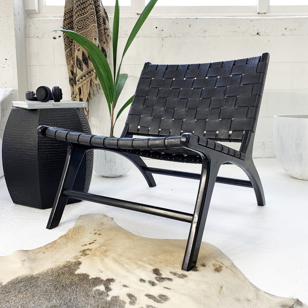 Anya Lounge Chair Black/Black