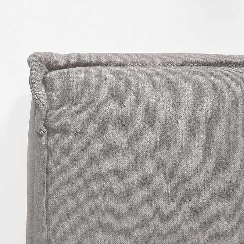 Keely Linen Headboard Queen - Cement