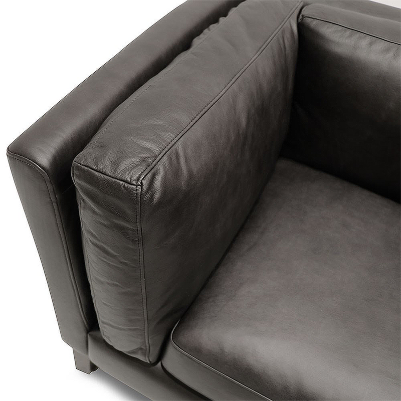 SOUK COLLECTIVE | Modena Leather Sofa 2 Seater Onyx