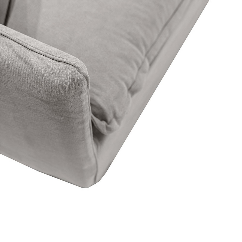 SOUK COLLECTIVE | Lotus Linen Slipcover Sofa Cement