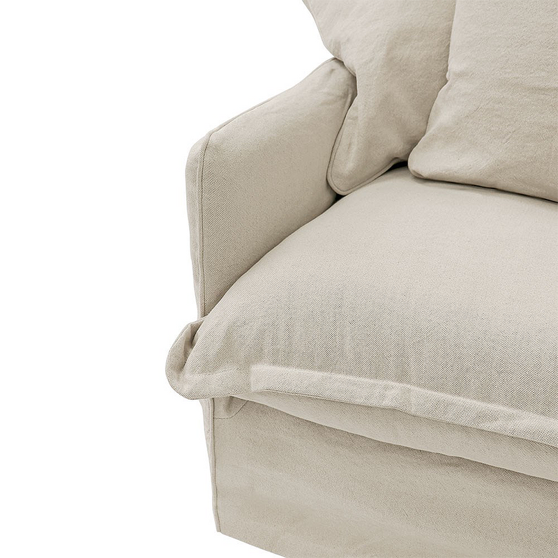 SOUK COLLECTIVE | Lotus Slipcover Armchair Oatmeal