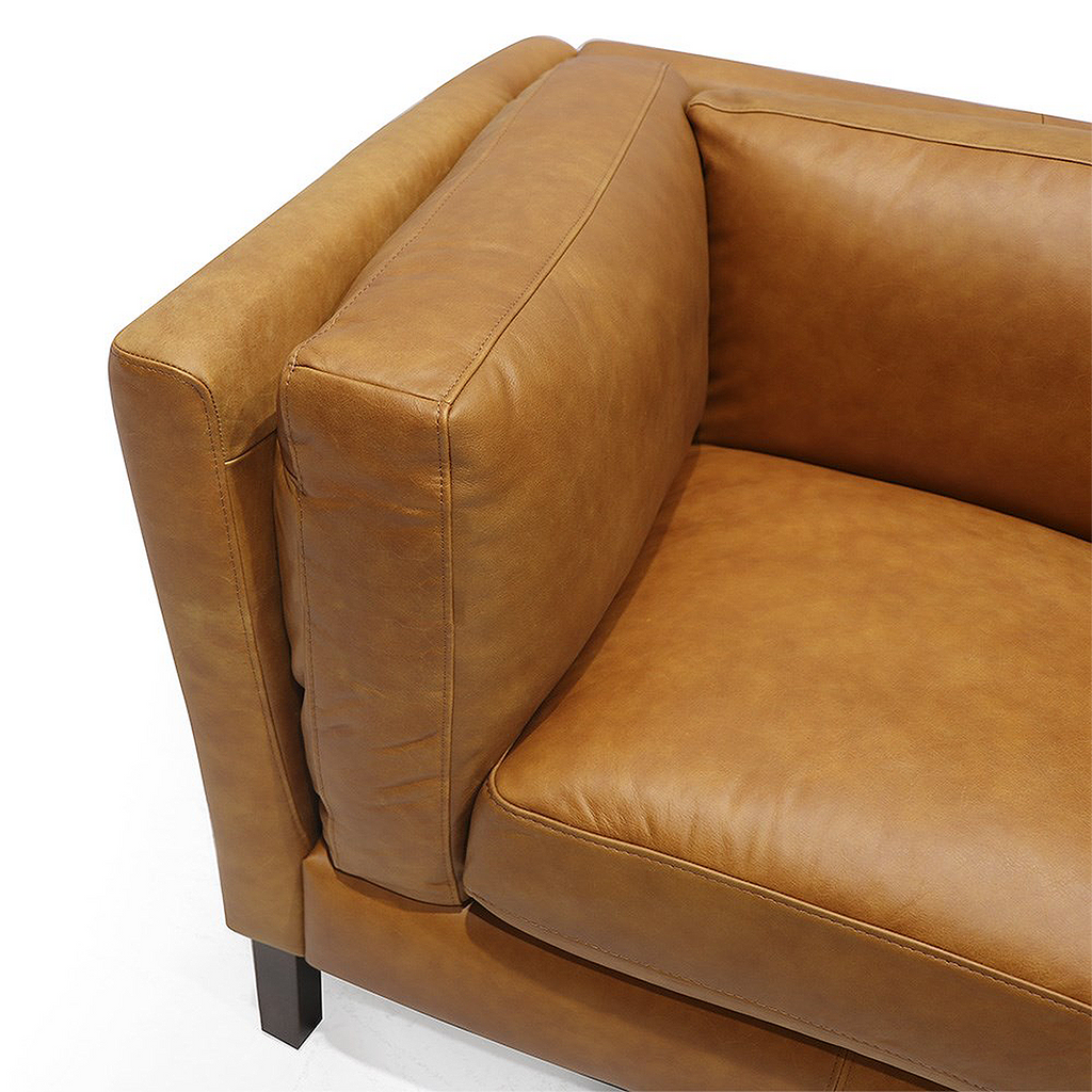 SOUK COLLECTIVE | Modena Leather Sofa 2 Seater Rust