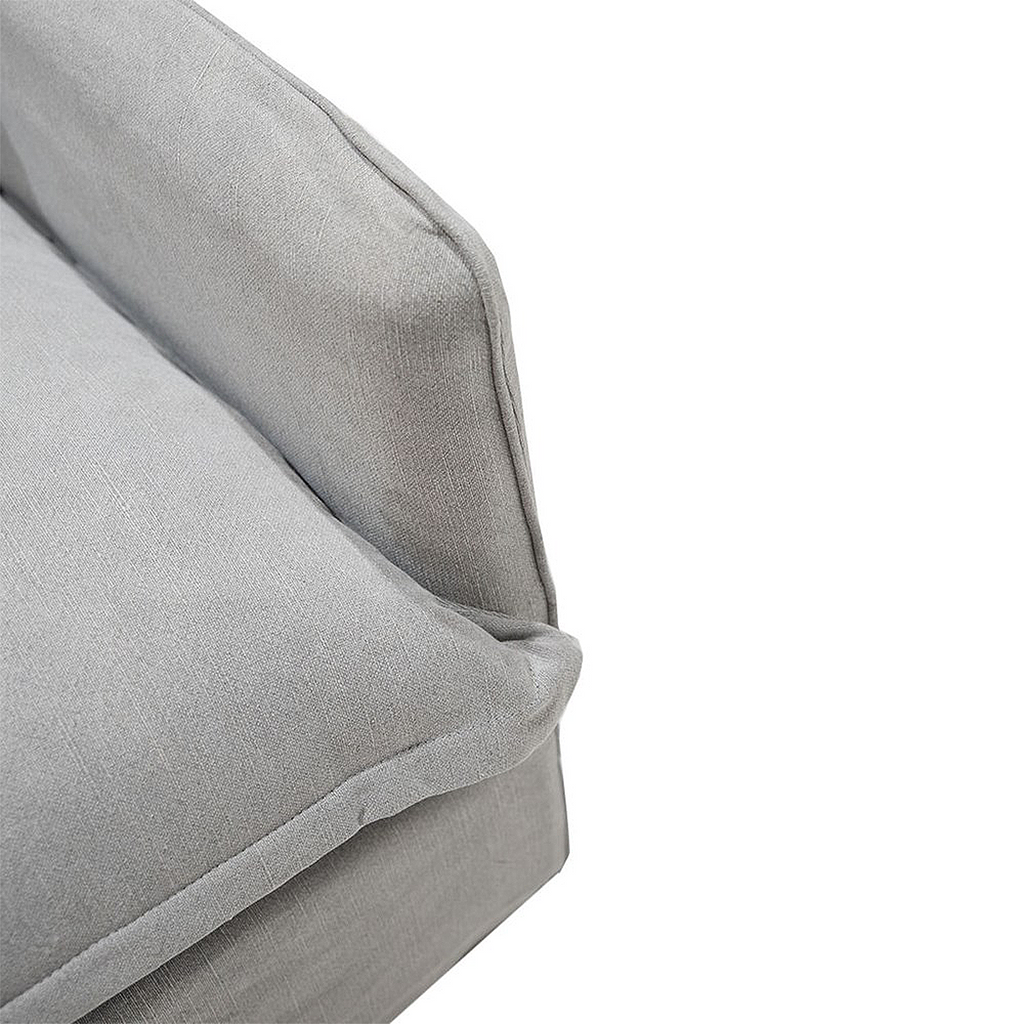 SOUK COLLECTIVE | Lotus Slipcover Armchair Cement