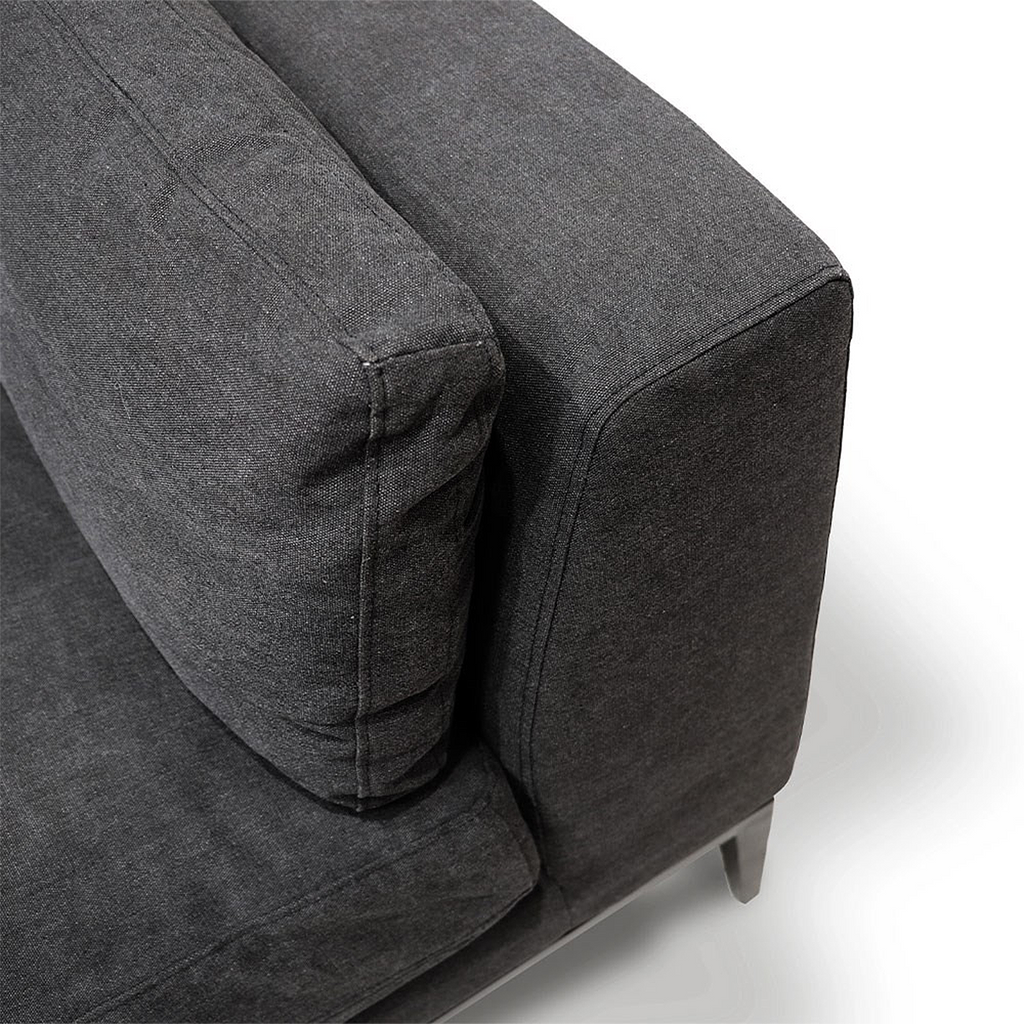 SOUK COLLECTIVE | Tyson Sofa 2.5 Seat Black