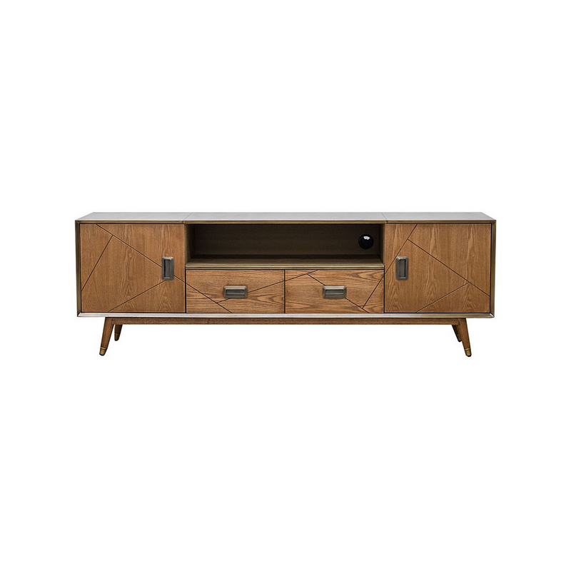 SOUK COLLECTIVE | Keya Antique Brass Entertainment Unit