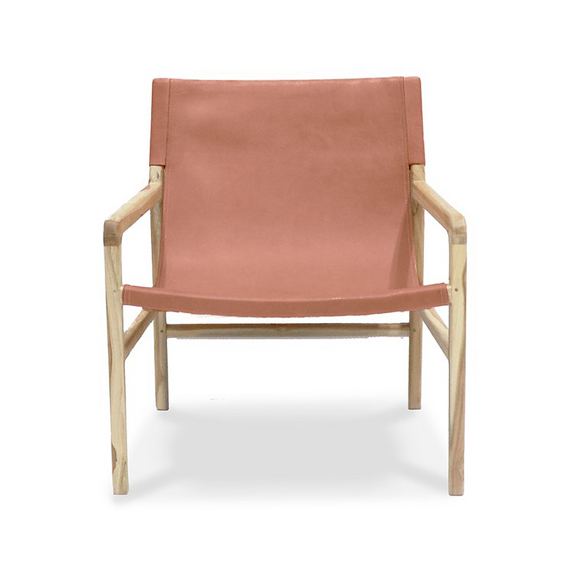SOUK COLLECTIVE | Hyde Leather Sling Chair Nude