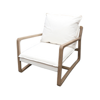 SOUK COLLECTIVE | Acer Lounge Chair Ivory