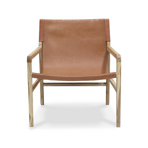 SOUK COLLECTIVE | Hyde Leather Sling Chair Tan