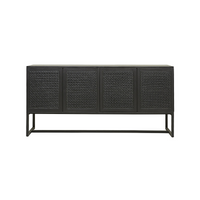 SOUK COLLECTIVE | Willow Woven Buffet Ebony