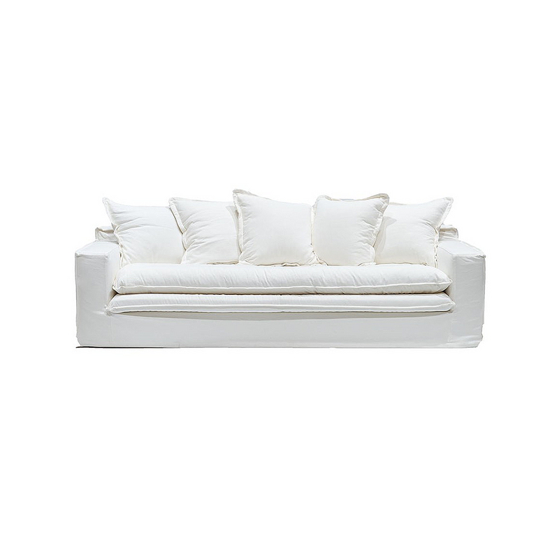 SOUK COLLECTIVE | Keely Slipcover Sofa White