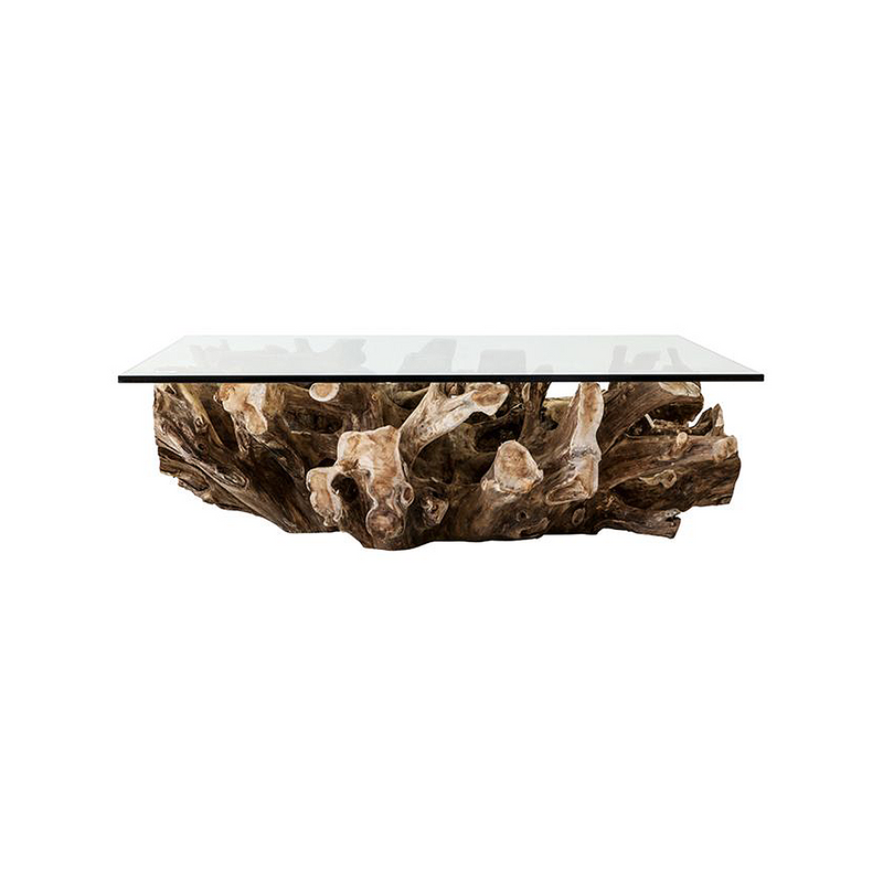 SOUK COLLECTIVE | Crusoe Square Teak Root Coffee Table