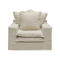 SOUK COLLECTIVE | Keely Slipcover Armchair Oatmeal