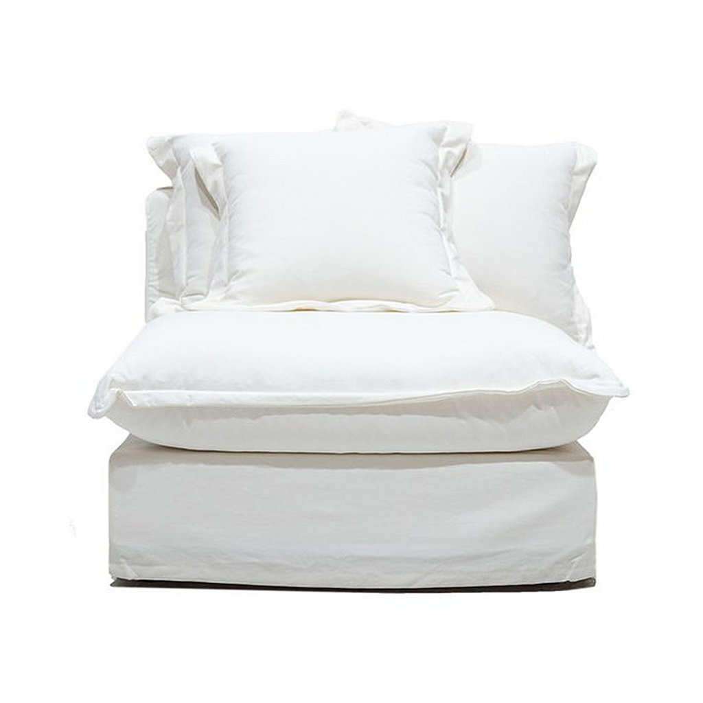 SOUK COLLECTIVE | Lotus Slipcover Chair Armless - White
