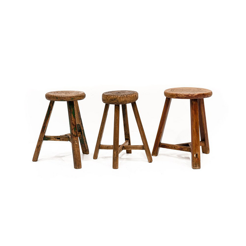 SOUK COLLECTIVE | Original Round Rustic Stool Large