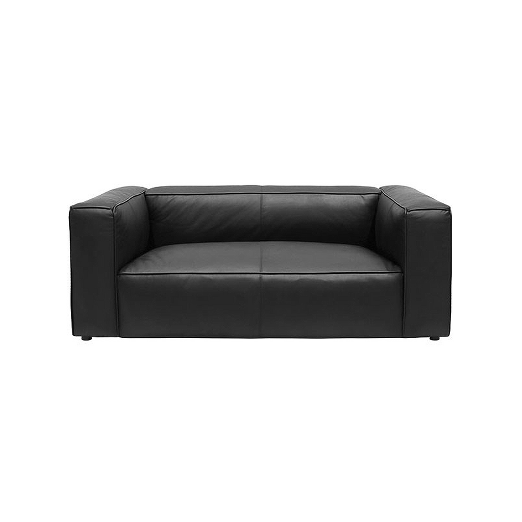 SOUK COLLECTIVE | Yale Sofa 2 Seat - Black