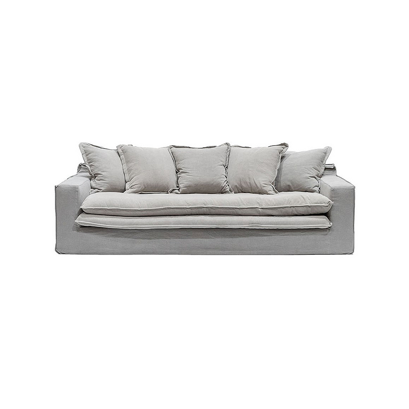 SOUK COLLECTIVE | Keely Slipcover Sofa Cement