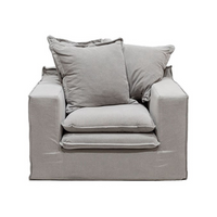 SOUK COLLECTIVE | Keely Slipcover Armchair Cement