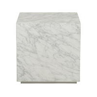 SOUK COLLECTIVE | Elle Block Side Table Carrara