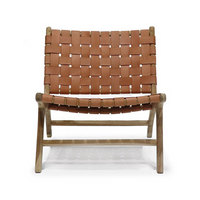 SOUK COLLECTIVE | Hayes Woven Leather Chair Tan